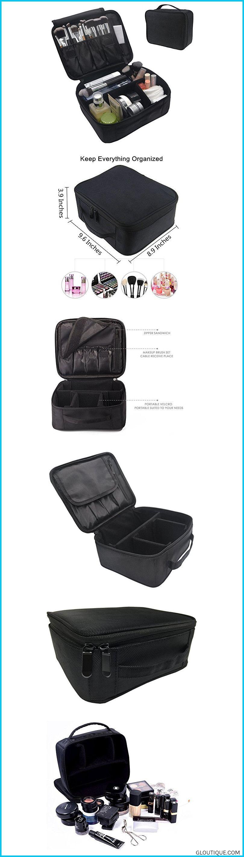 Portable Makeup Bag FLYMEI Make Up Bag Large Capacity