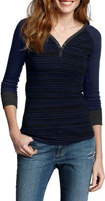 2e17fa9209 Women's Favorite Striped Henley Shirt - Shop for women's Shirt - Bright  Navy Shirt