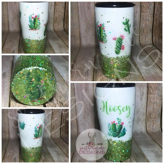Cactus Tumbler, Glitter Cup, Ombre Tumbler, Ozark Tumbler