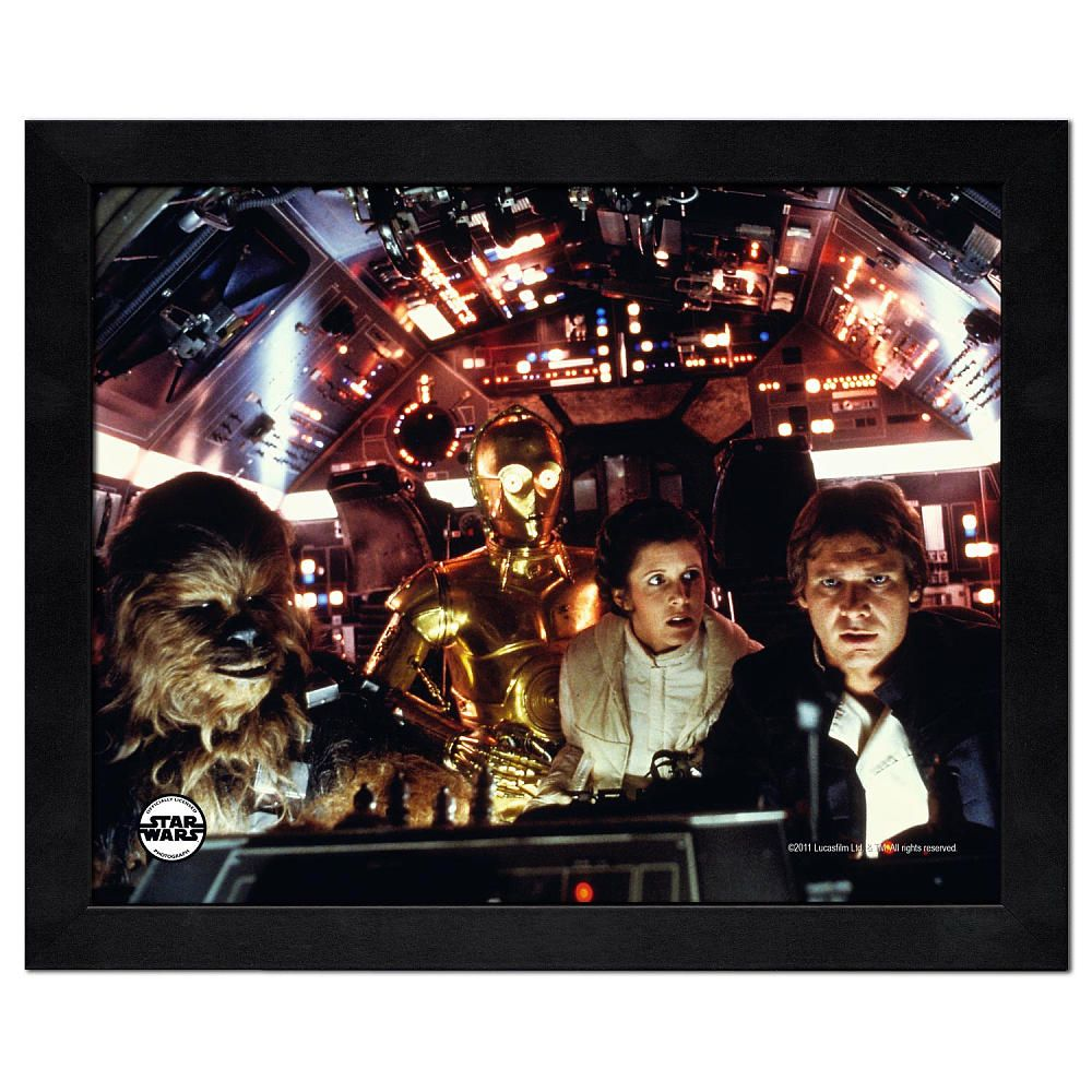 "Star Wars Collection Framed Photo - Han/Leia/C3PO/Chewy - Photo File - Toys ""R"" Us"