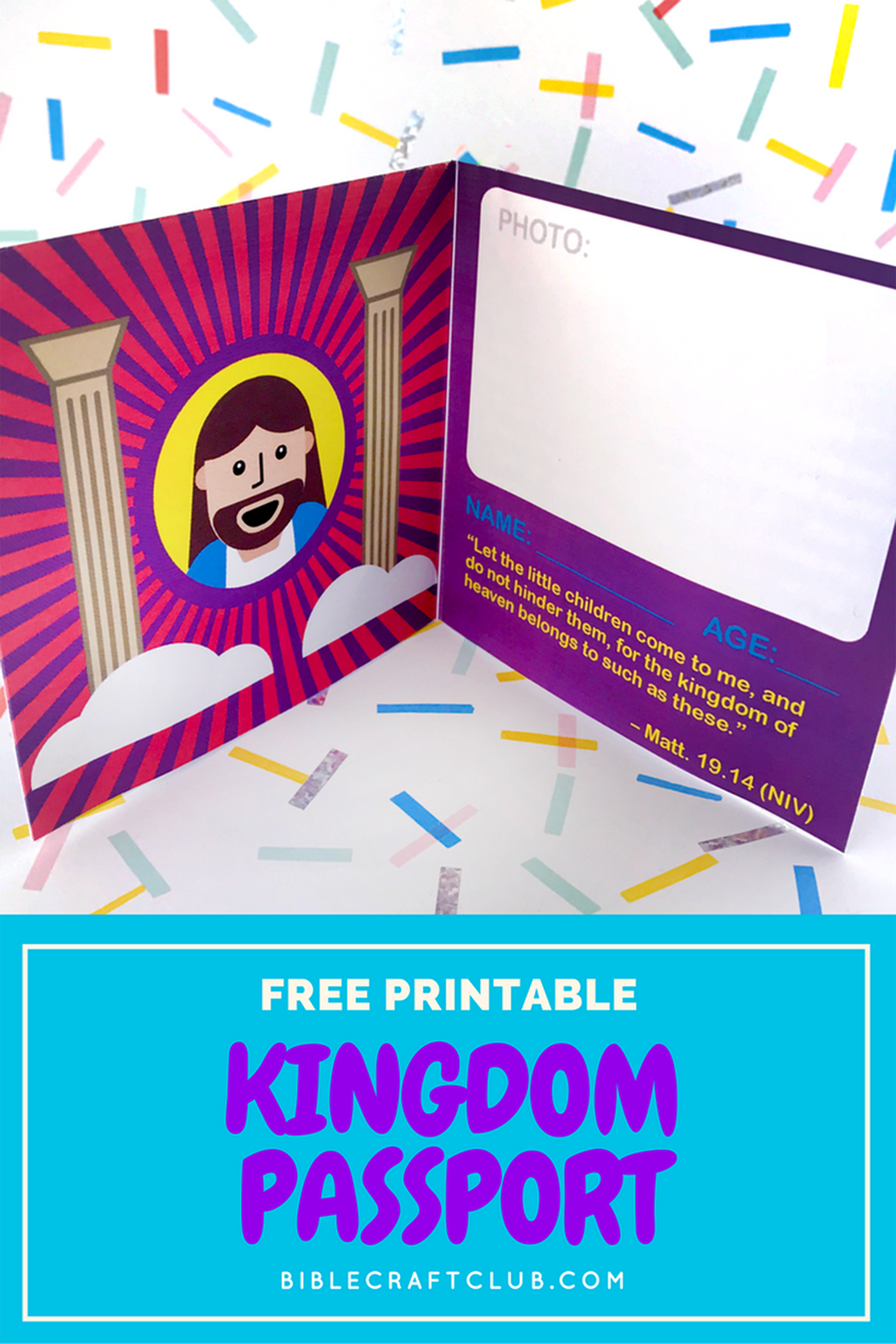 Kingdom Passport Craft Biblecraftclub Com Bible Crafts Faith