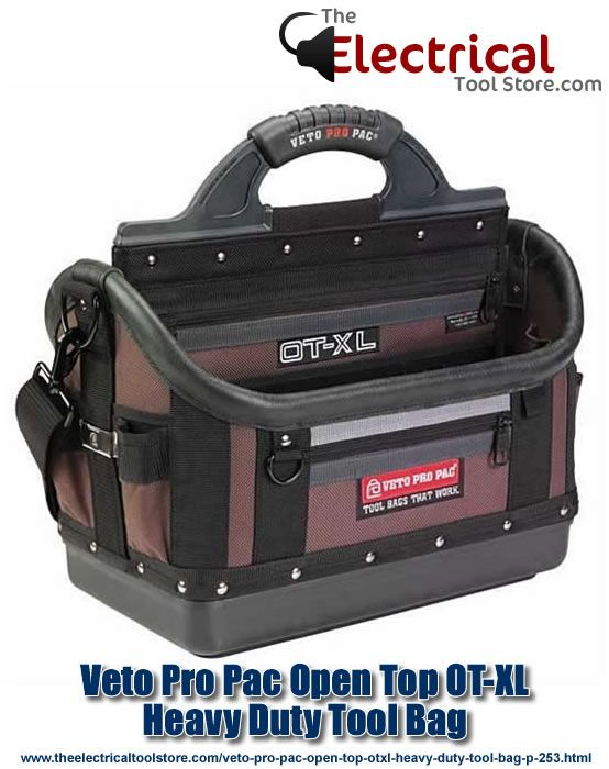 Tool Tote Bag Padded Rotating Handle Durable Light Weight Heavy Duty Sturdy