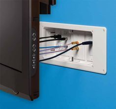 space saving design simplifies in wall wiring and keeps messy cables rh pinterest com wiring for wall mounted tv wiring wall mounted tv aerial socket