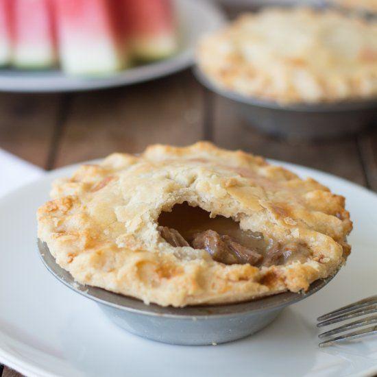 A hearty steak pie, with a thick gravy sauce. | Steak pie ...
