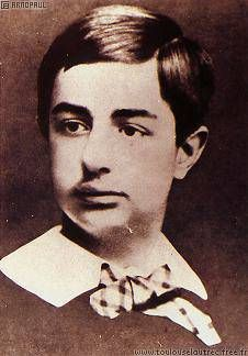Young Henri de Toulouse-Lautrec (age12) - just a year before he fractured both of his legs. The breaks did not heal properly and his legs ceased to grow, so as an adult he was only 1.54 m tall (about 5 feet). Modern physicians attribute this to an unknown generic disorder, possibly pycnodysostosis, also known as Toulouse-Lautrec Syndrome.