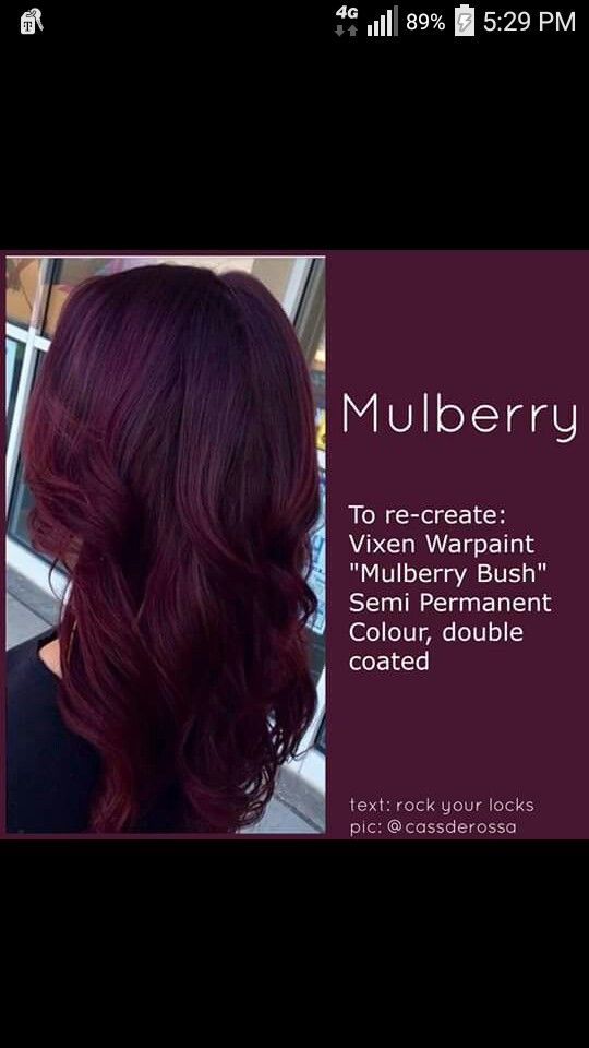 Mulberry Hair Hair Styles Burgundy Hair Hair Hacks