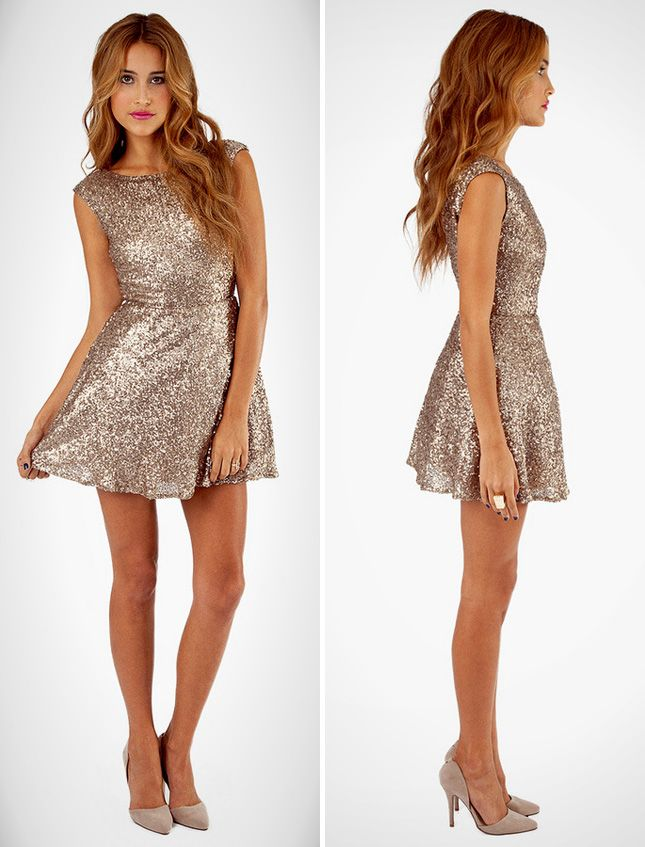 d9a91f04f2b9 10 Little Gold Dresses to Make You Sparkle via Brit + Co.