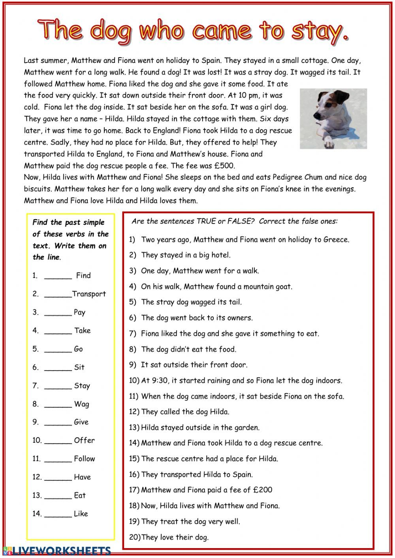 Pastsimple Interactive Worksheet Vocabulary Worksheets Worksheets Simple Past Tense [ 1413 x 1000 Pixel ]