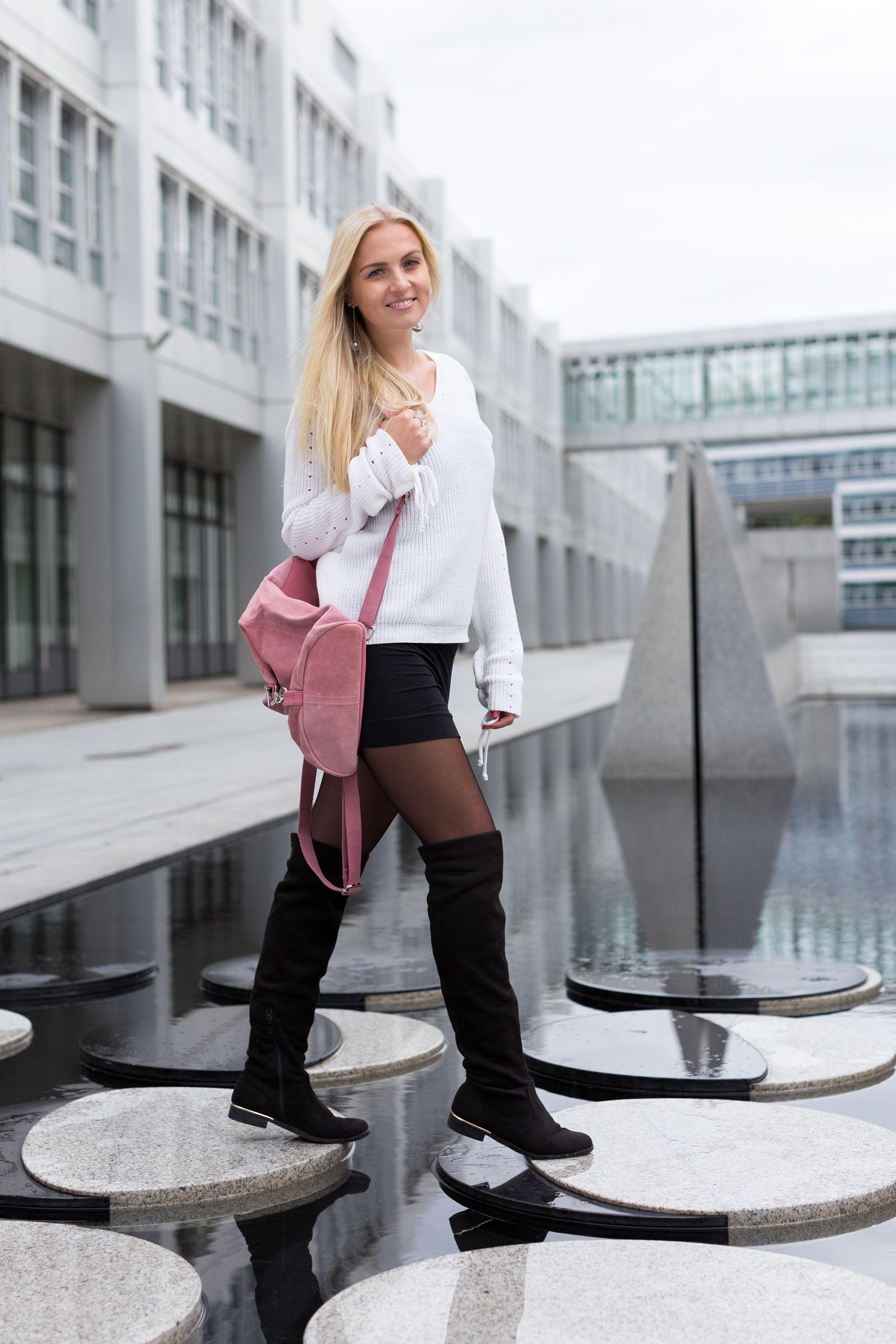 fashionHerbst und Wintertrend  Overknees richtig kombinieren!   overkneestiefel  overknees 8ccb32426d