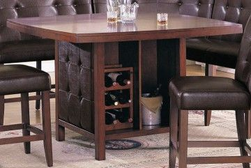 Pub Table With Wine Storage Acme Britney Counter Height