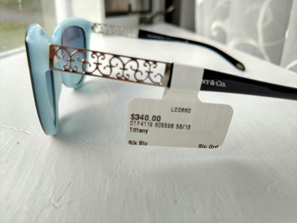 8a936f3deac5 Tiffany   Co Sunglasses TF4119 8134 3B Cat Eye Rim Havana Brown Blue 56 16  140  fashion  clothing  shoes  accessories  womensaccessories ...