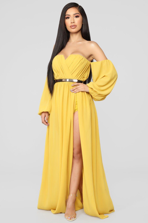 b6df92e65305 Dinner On The Beach Dress - Mustard in 2019