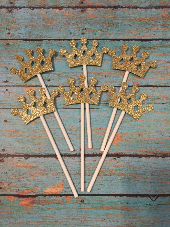 Crown Cupcake Toppers Crown Birthday Cupcake Toppers