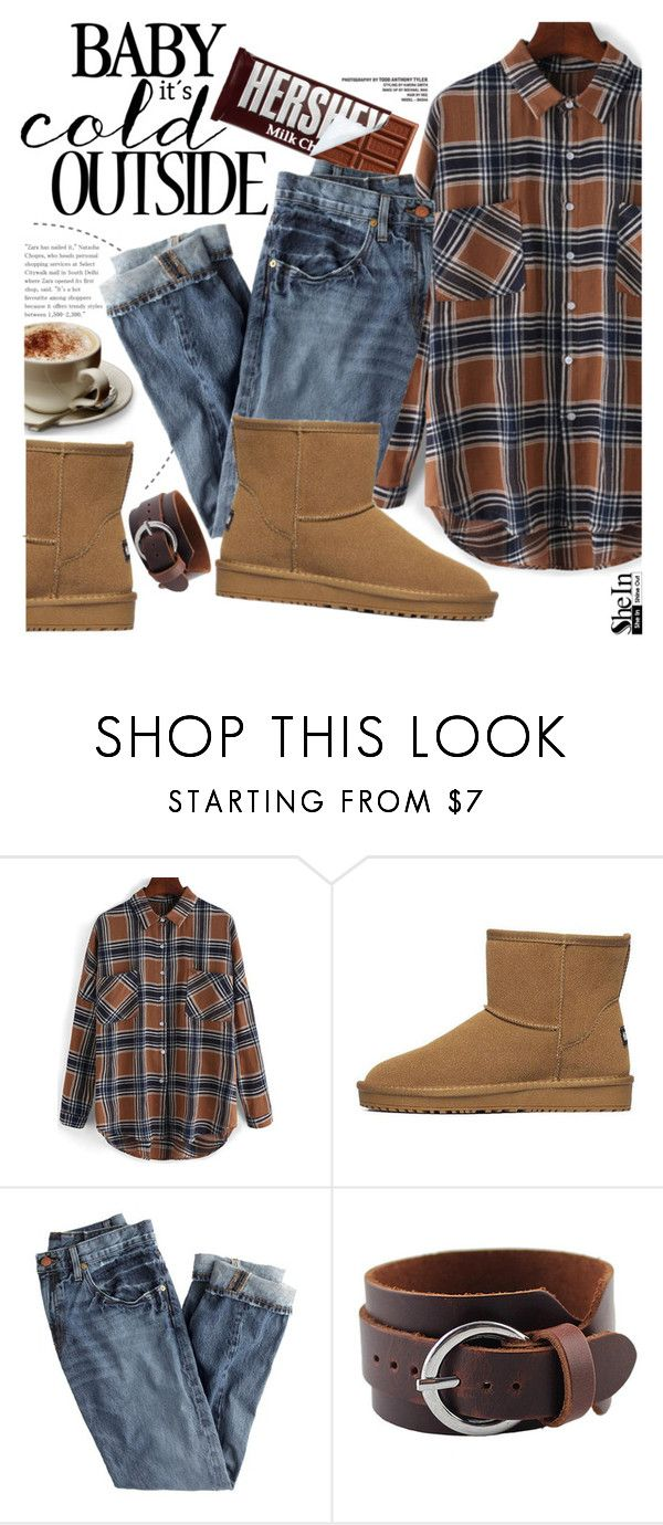 """""""It's cold outside"""" by pokadoll ❤ liked on Polyvore featuring mode, Hershey's, J.Crew, vintage, Sheinside en shein"""