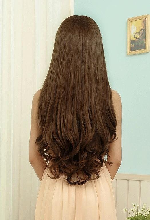 Lange haare spitzen locken