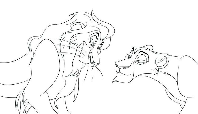 Lion King Coloring Pages Kovu Download Or Print The Image Below