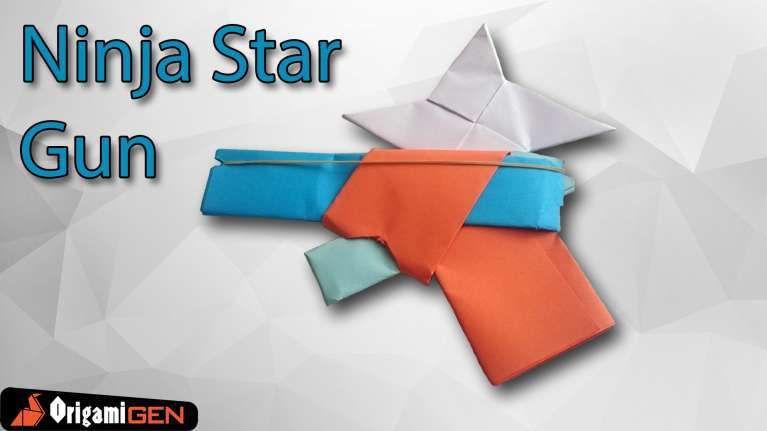 how to make an origami gun