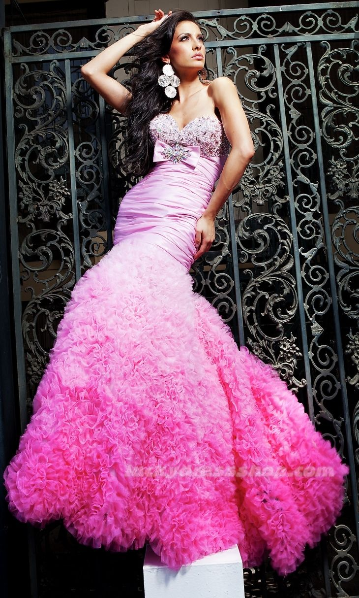 Pink Strapless Long/Floor-length Prom Dress | Things I love | Pinterest