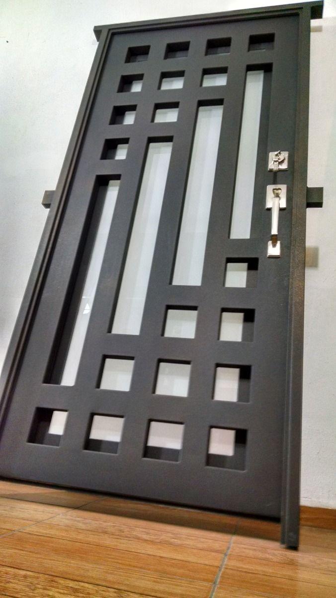 Puerta principal de forja contemporanea 8 for Puertas de entrada principal minimalistas