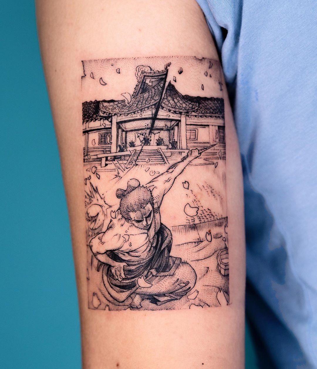 "Roronoa Zoro by ""Oozy"" oozy_tattoo in Seoul, South Korea ..."