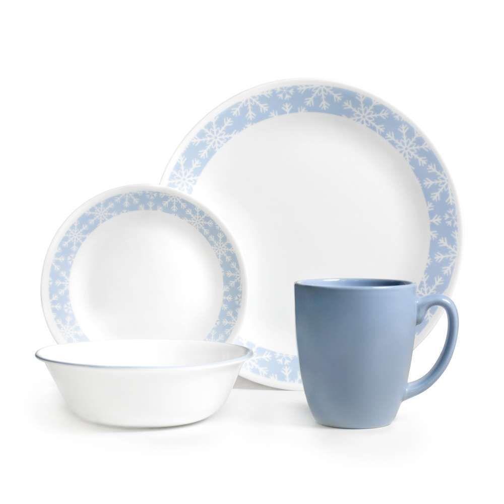 Corelle Livingware Crystal Frost 16-piece Dinnerware Set (Crystal Frost) Blue (Vitrelle Glass Banded)  sc 1 st  Pinterest & Corelle Livingware Crystal Frost 16-piece Dinnerware Set (Crystal ...