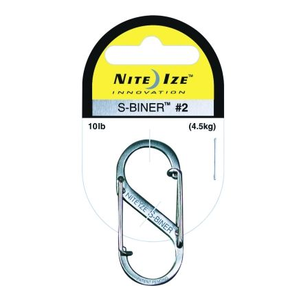 Nite Ize Stainless S-Biner #4 Carabiner Style Clips S Hook