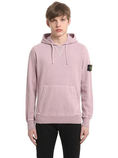 STONE ISLAND Malfile Hooded Cotton Sweatshirt a1710a6c1