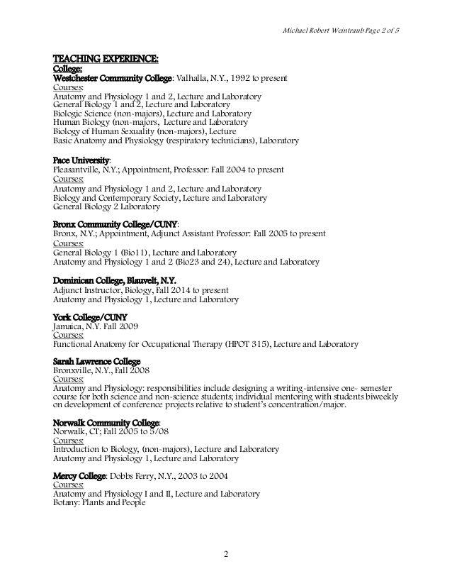 Resume For Anatomy Professor - Opinion of professionals | Baseball ...