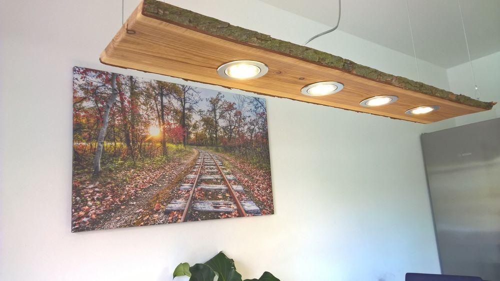 Details zu LED Eichen Hängelampe Holz Rustikal 120cm 5