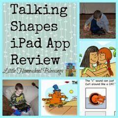 Little Homeschool Blessings: Talking Shapes iPad App {A Review} #hsreview #homeschool #review #letters #kids