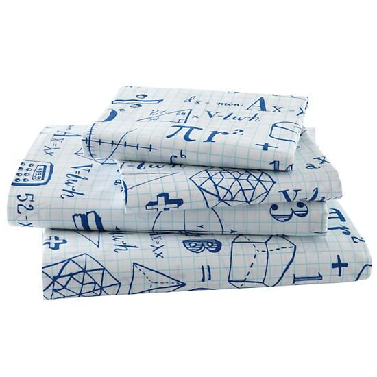 The Land of Nod | Kids Sheets: Mathematical Equations Sheet Set in ...