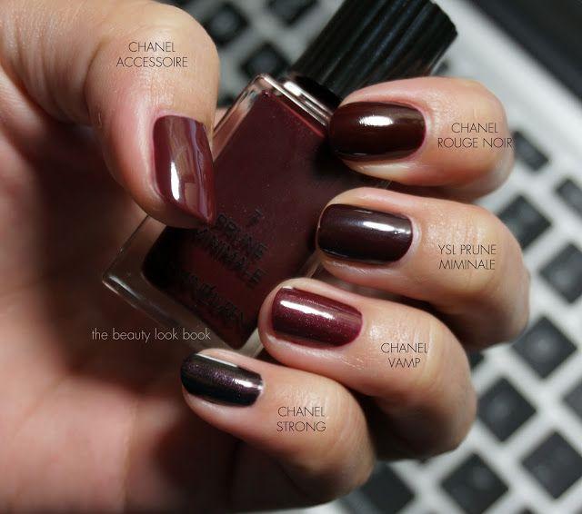 vampy nail polishes: Chanel Strong Chanel Vamp YSL Prune Miminaie ...