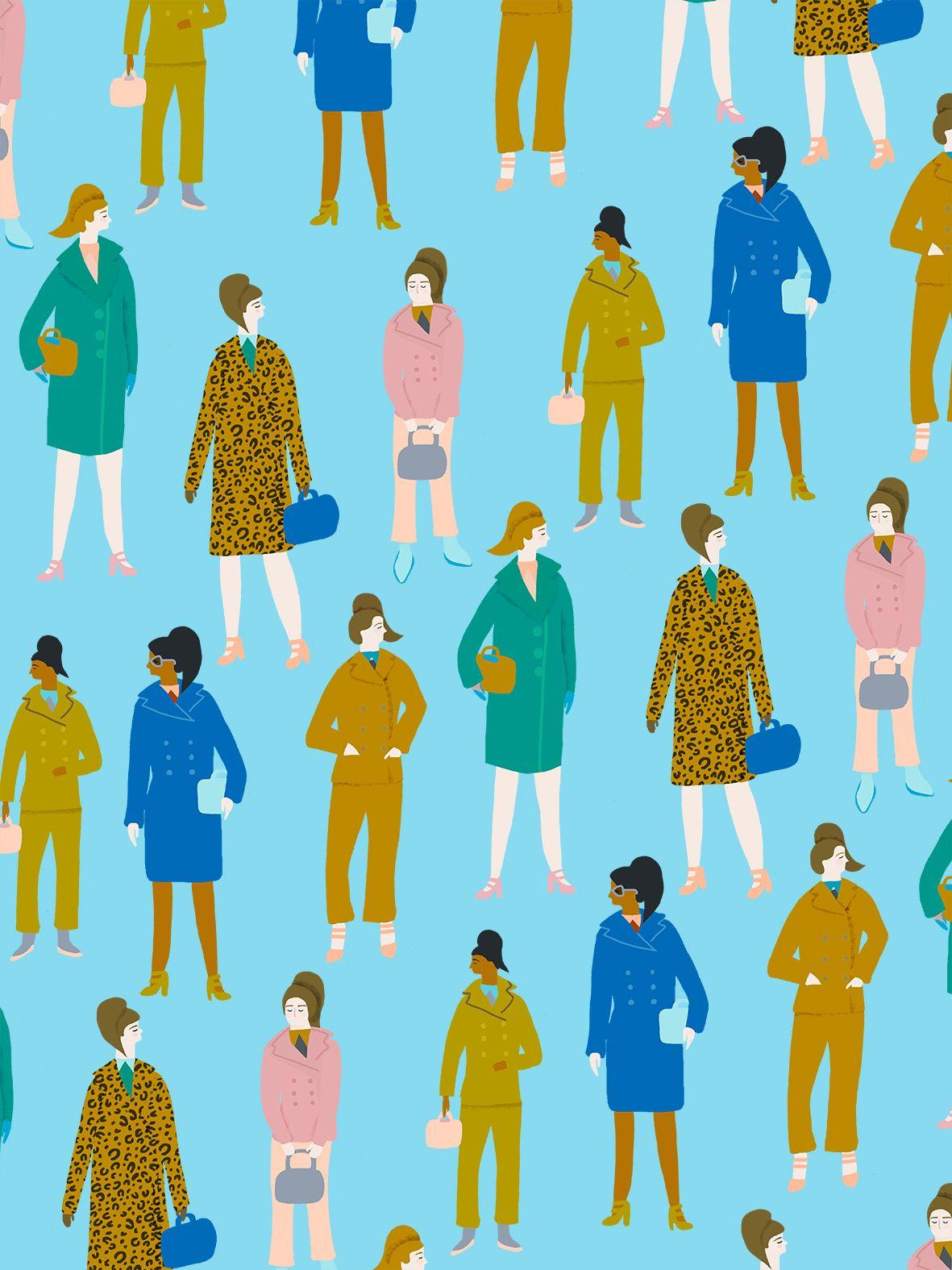 Naomi Wilkinson Illustration (A pattern of Prada's autumn/winter 2015 collection)