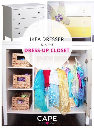 Genial Ikea Dresser Turned Dress Up Closet