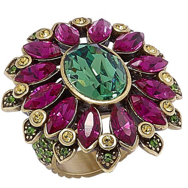 Heidi Daus Glorious Garden Ring ($130) ❤ liked on Polyvore