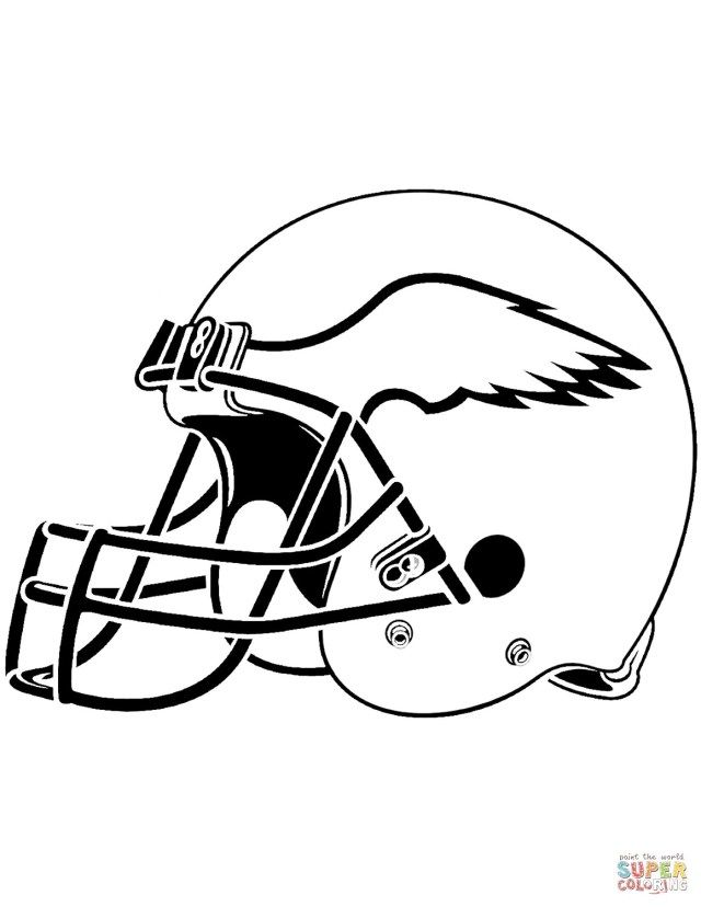 25 Creative Picture Of Football Helmet Coloring Page