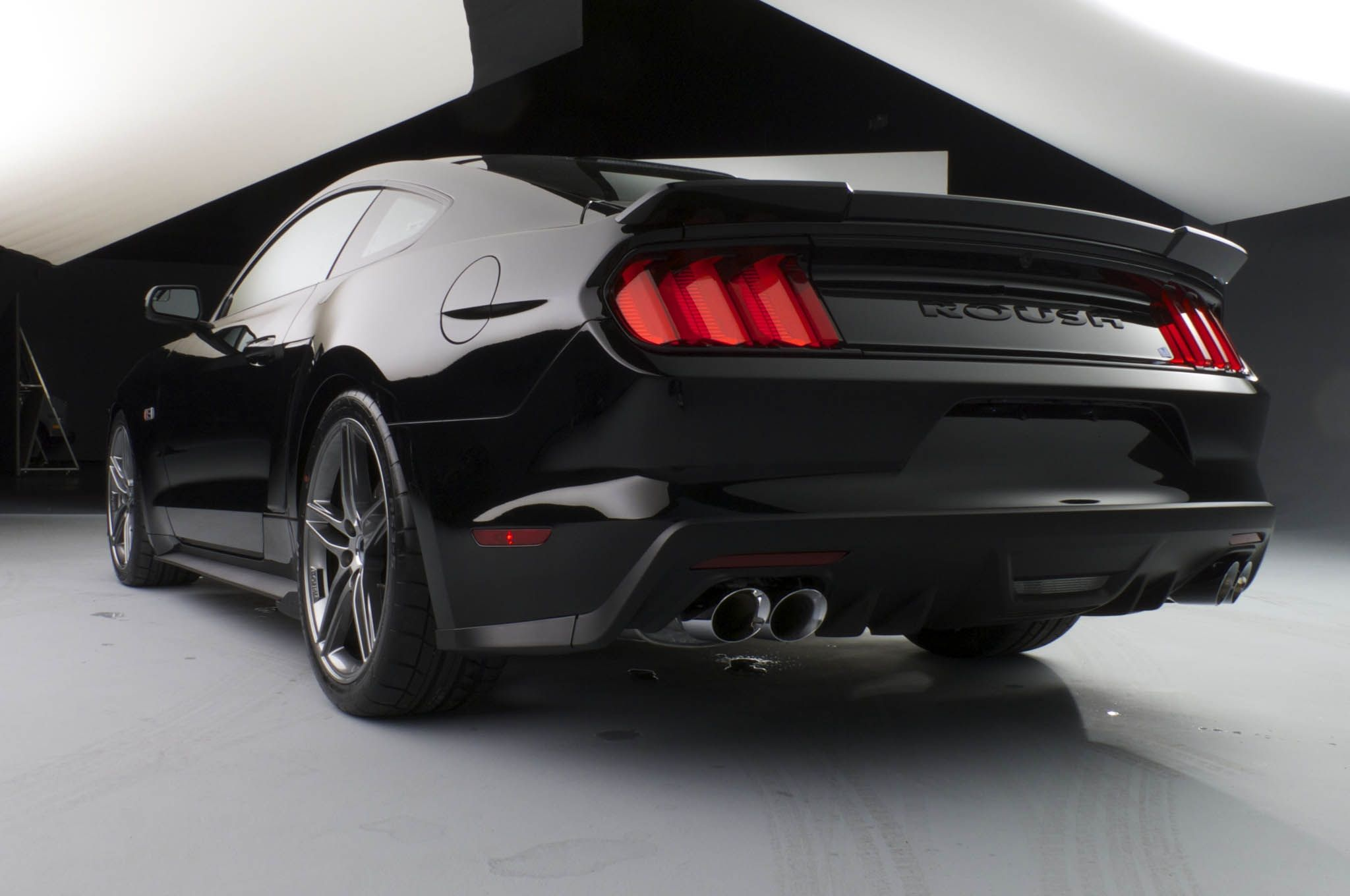 Roush 2015 ford mustang rear three quarters photo