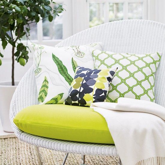 Perfect Illustration Of Combining Fabrics   One Small, One Medium, One  Large Print,. Conservatory ChairsConservatory DesignSmall Conservatory  FurnitureCane ...