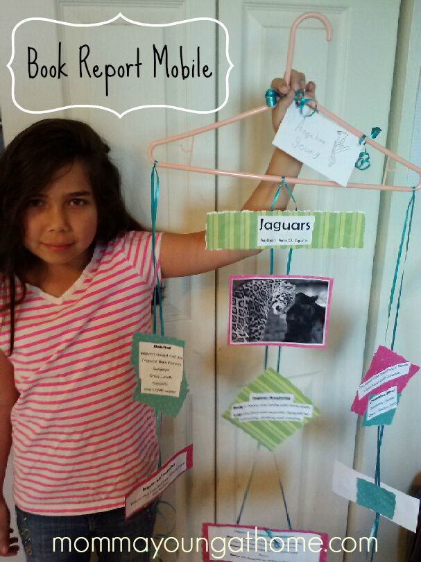 Hanger Mobile for Book Report Jaida projects Pinterest Books - science project report