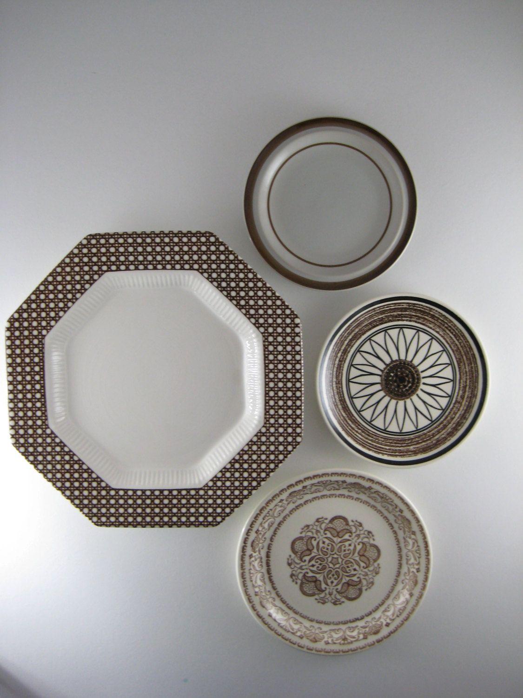 Decorative Plates Vintage Plates Mismatched Plates Kitchen Wall Decor  Cottage Wall Decor Shabby Chic Wall Decor