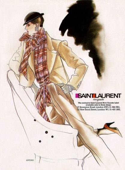 Antonio Lopez 1984 Yves Saint Laurent