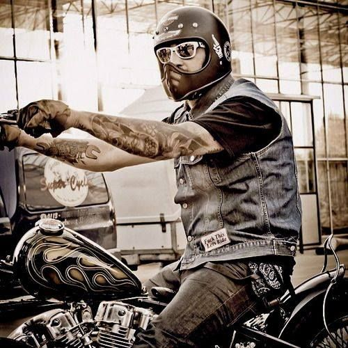 Security Check Required Motorcycle Style Bike Biker Art