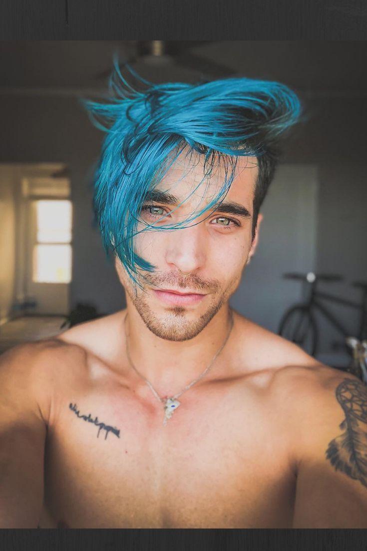 Blue Hair Fox Hair Dye Fade Haircut Comb Over Haircut