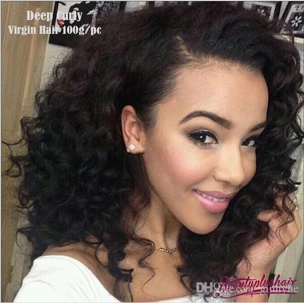 Grade 6a Cheap Brazilian Deep Wavedeep Curly Virgin Hair