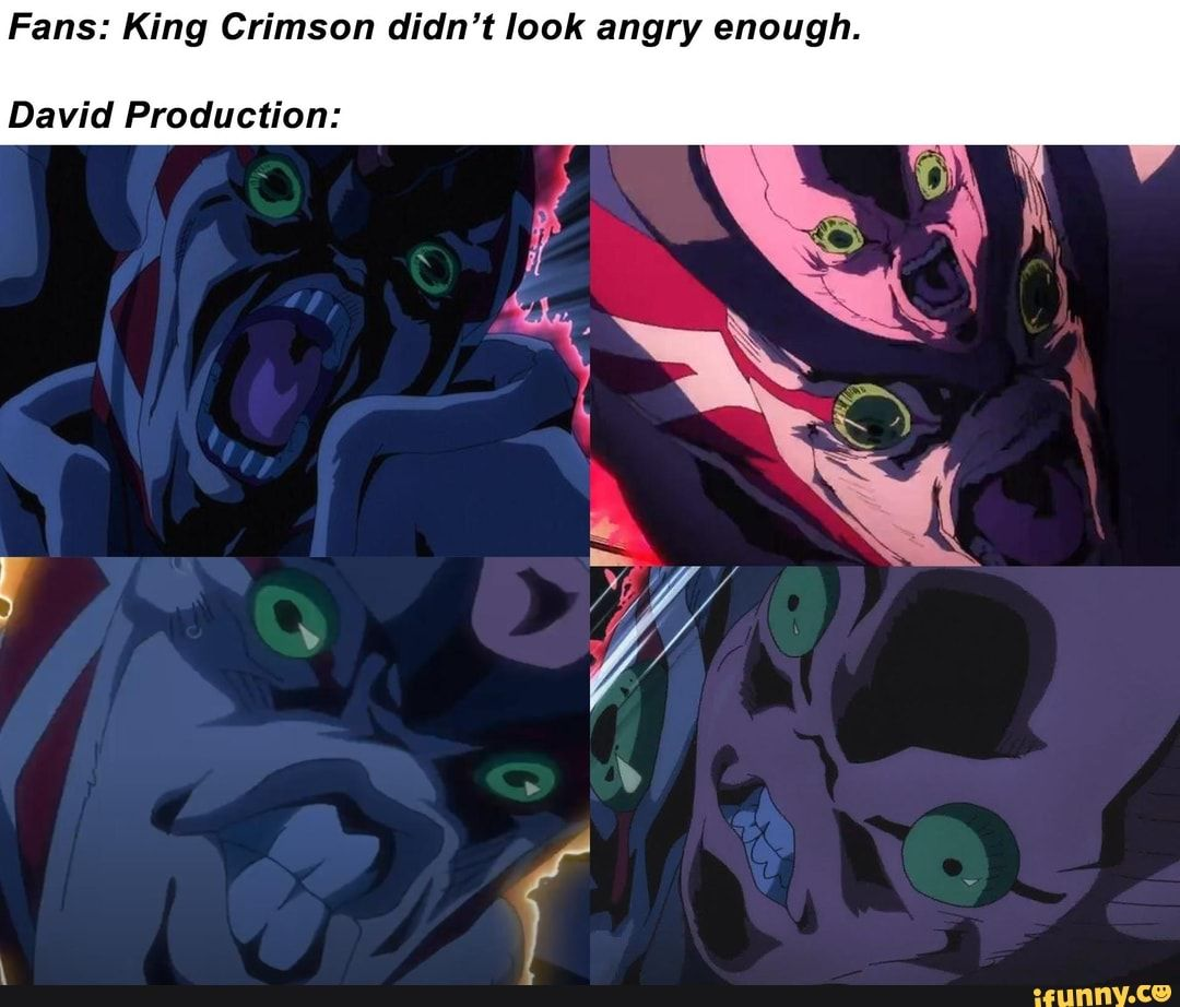 Fans: King Crimson didn't look angry enough  David