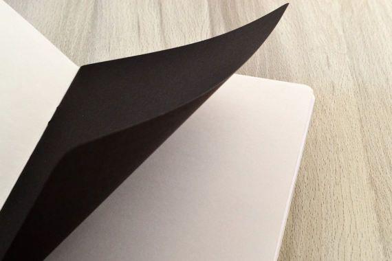 Notebook de regalo para hombres cuaderno negro diario jaspeado