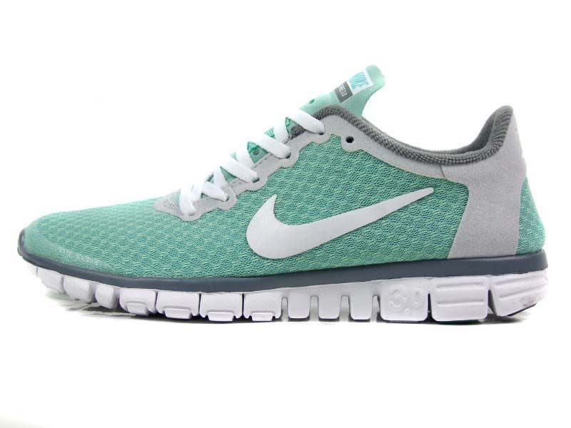 buy popular a19c5 6b756 Nike Free 3.0 V2 Green White Grey