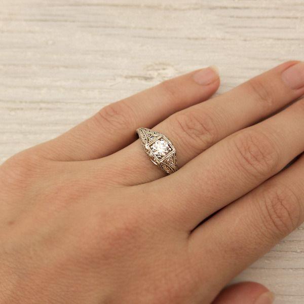 52 Carat Vintage Diamond Engagement Ring New York Vintage