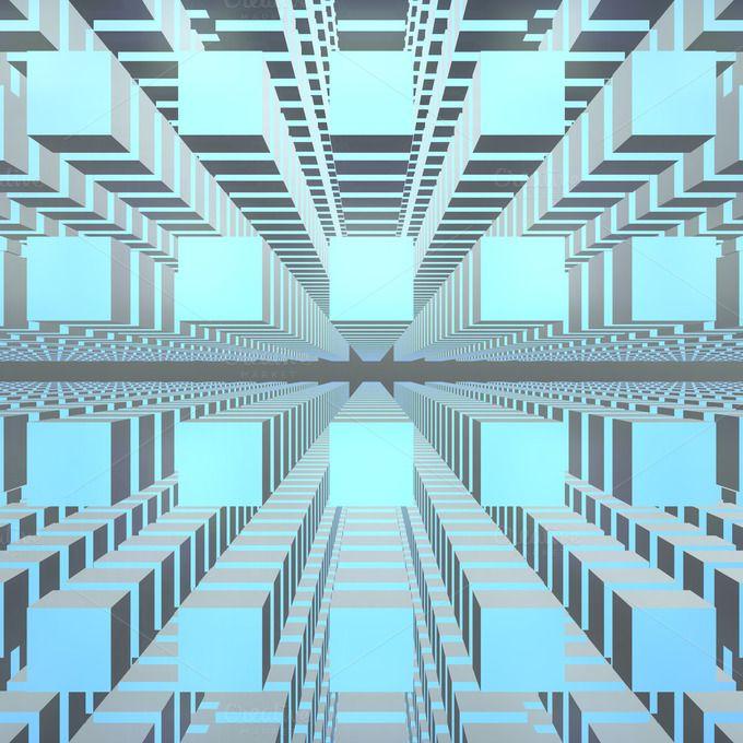 Cubes Particle Grid Matrix 3d Render 3d Cube Cube Matrix