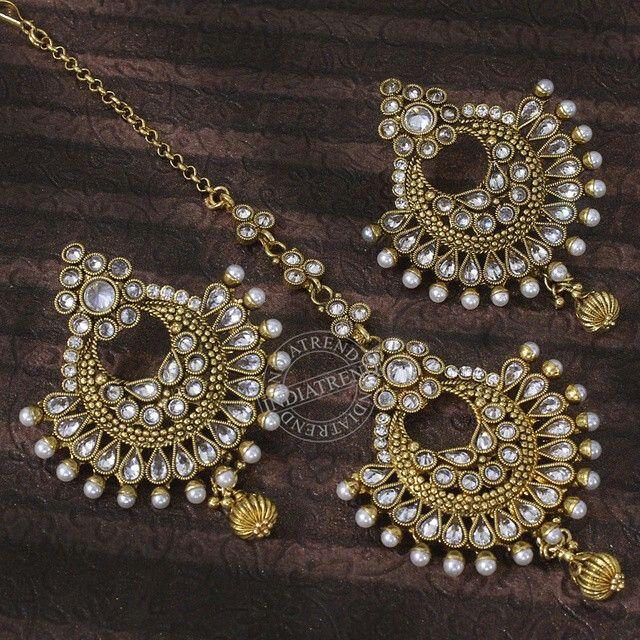 7c328c5faf Earrings and Maang Tikka | Indian Jewellery.... | Indian wedding ...